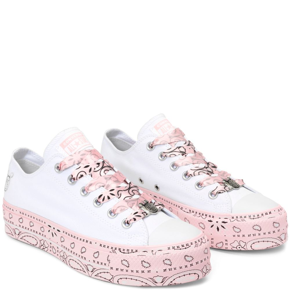 7f16eec9e44 Converse x Miley Cyrus Chuck Taylor All Star Lift White/Pink Dogwood ...