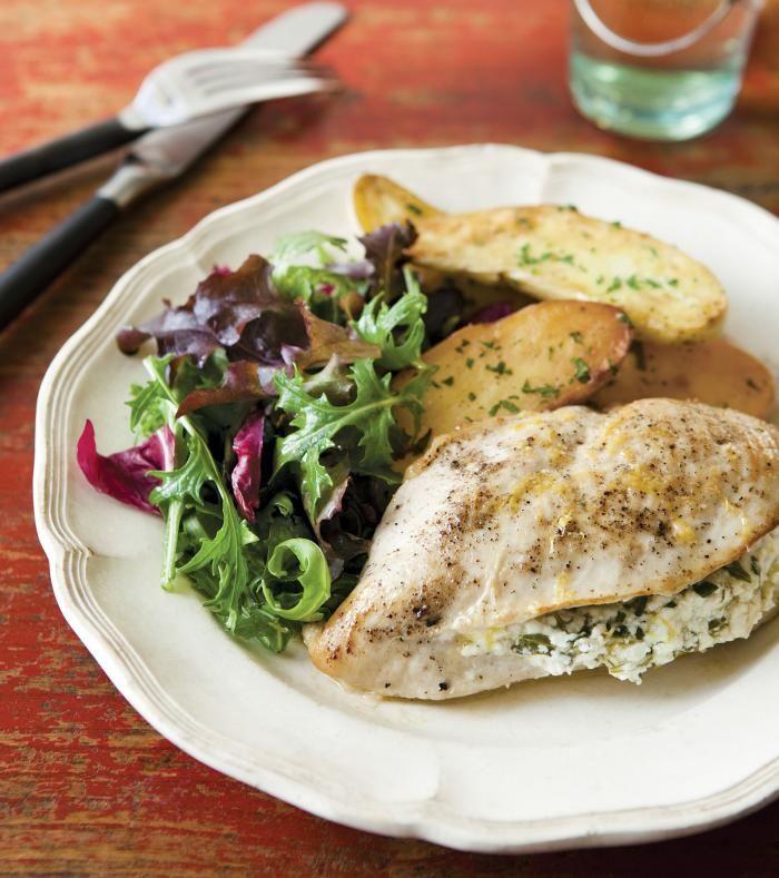 Chicken Breasts Stuffed With Goat Cheese Arugula Lemon Recipe