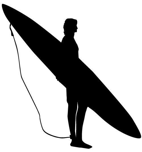 surfer silhouette buscar con google tattoo pinterest surfers rh pinterest com Waiting for a Surfer Wave Silhouette Clip Art Surfer Sunset Clip Art