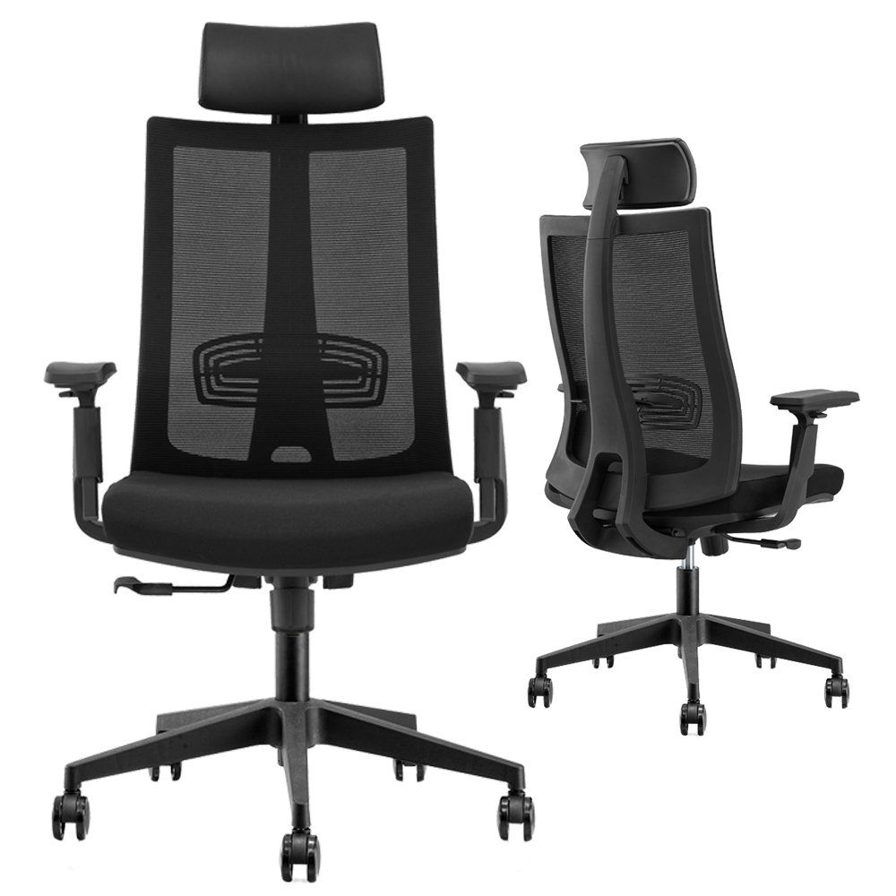 cmo mesh ergonomic office managers high back chair with 2 to 1