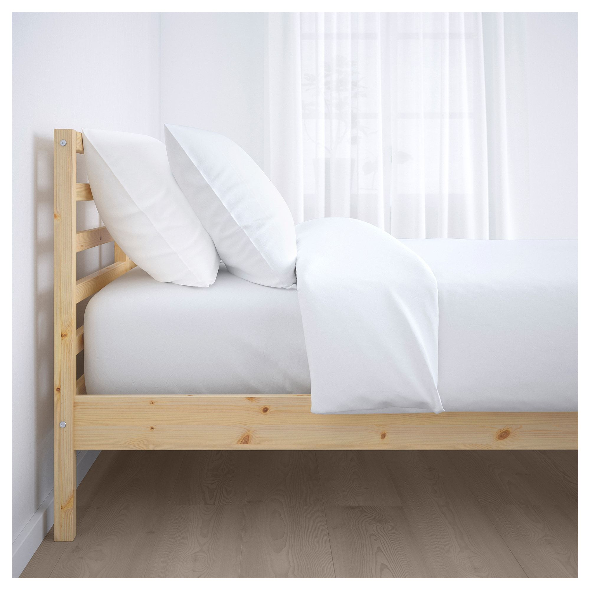 Ikea Tarva Queen Bed Frame With Lonset Slatted Bed Base 200 00
