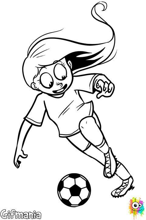 Resultado de imagen para dibujos de una niña jugando futbol | Amigos ...