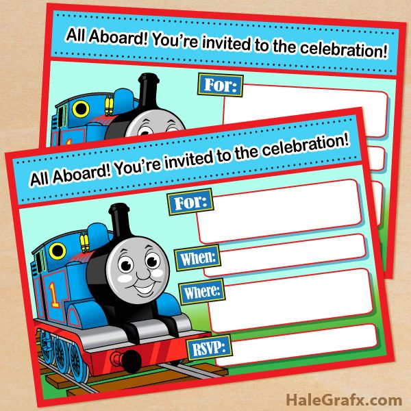 FREE Printable Thomas the Tank Engine Birthday Invitation – Thomas the Train Birthday Invites