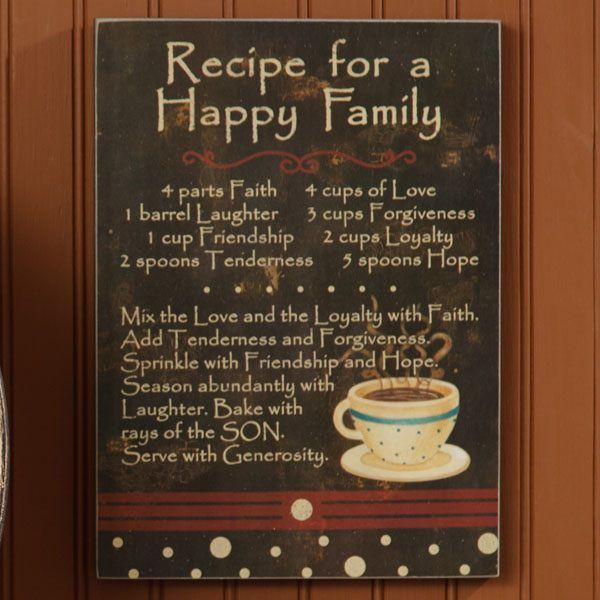 Recipe For A Happy Family