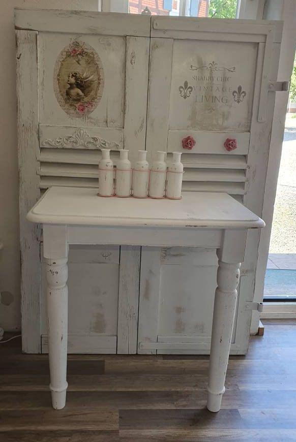 En bois Clé Porte-Armoire-Shabby Chic Blanc Pattern Design