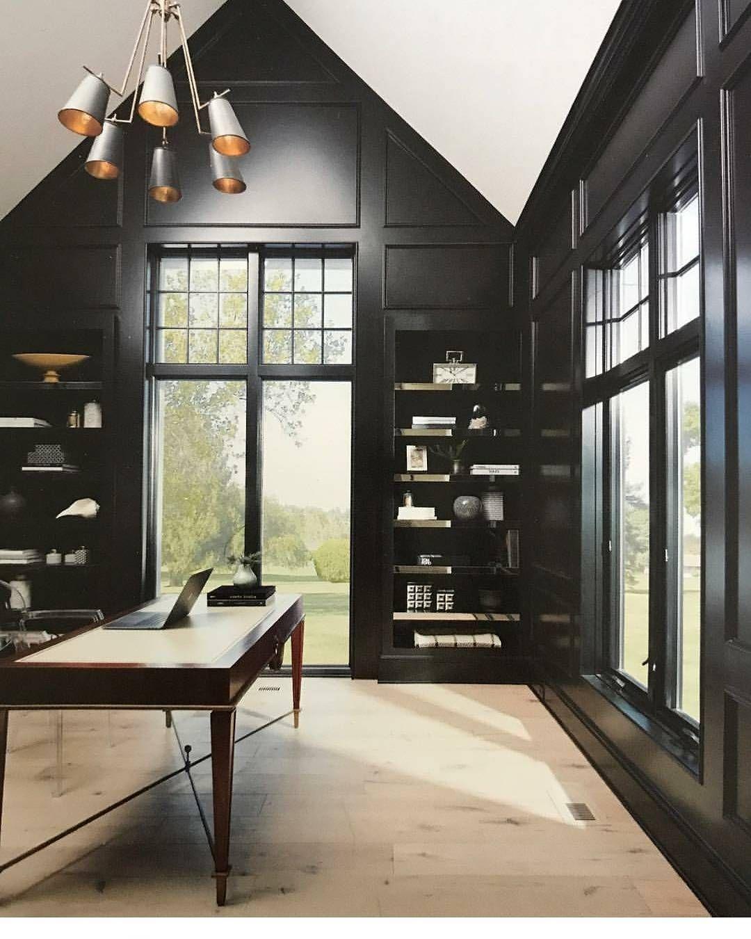 #interiordesign By Iris Dankner #bookshelves #black