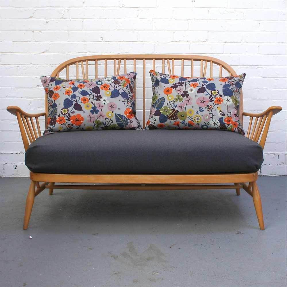 Image Of Vintage Ercol 2 Seater Sofa Bespoke Sold