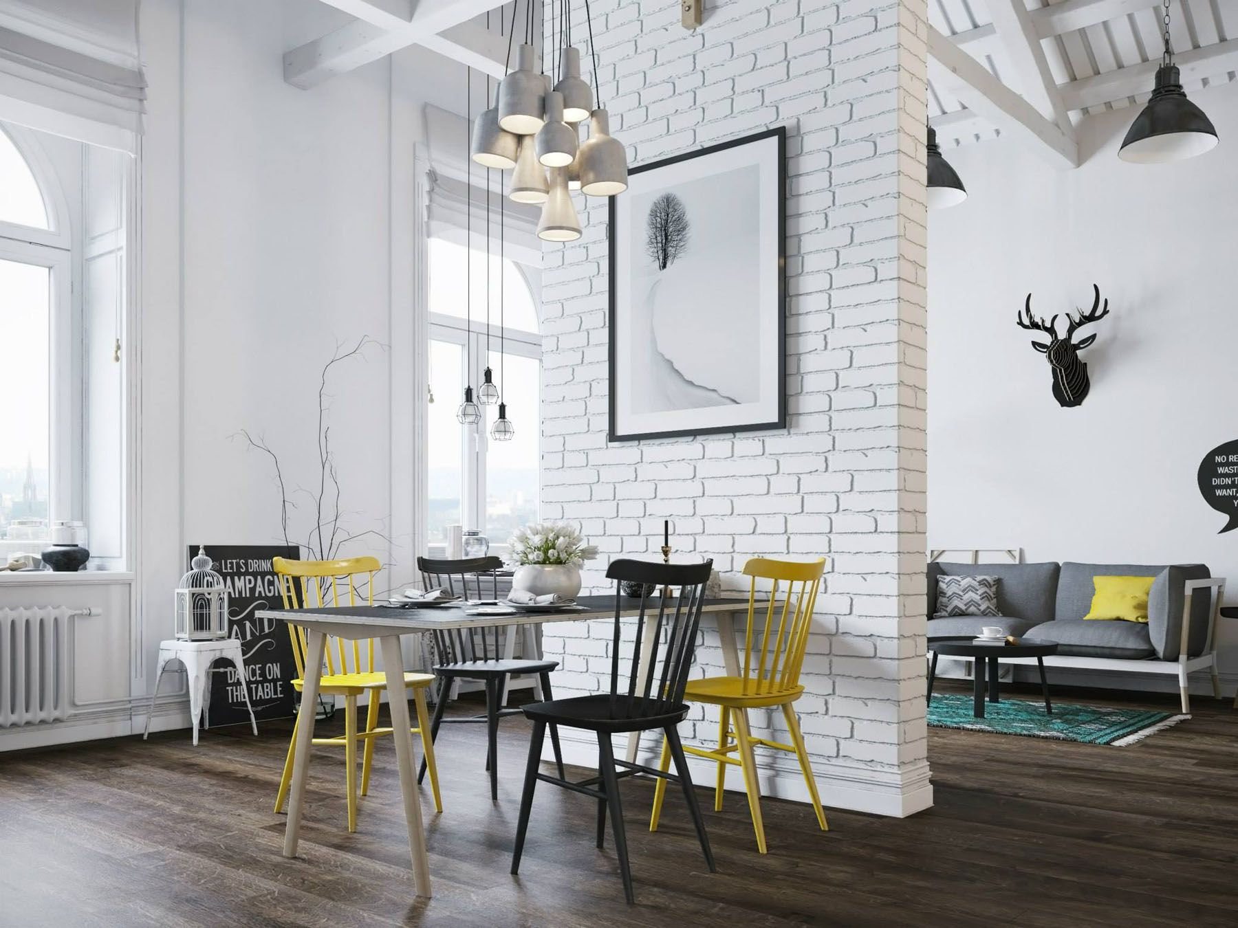 Small modern loft in prague with scandinavian style decor - Scandinavian interior design magazine ...