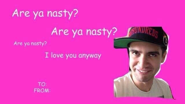 Patd P Atd Panic At The Disco Valentines Memes Valentines Day Cards Tumblr Funny Valentines Cards