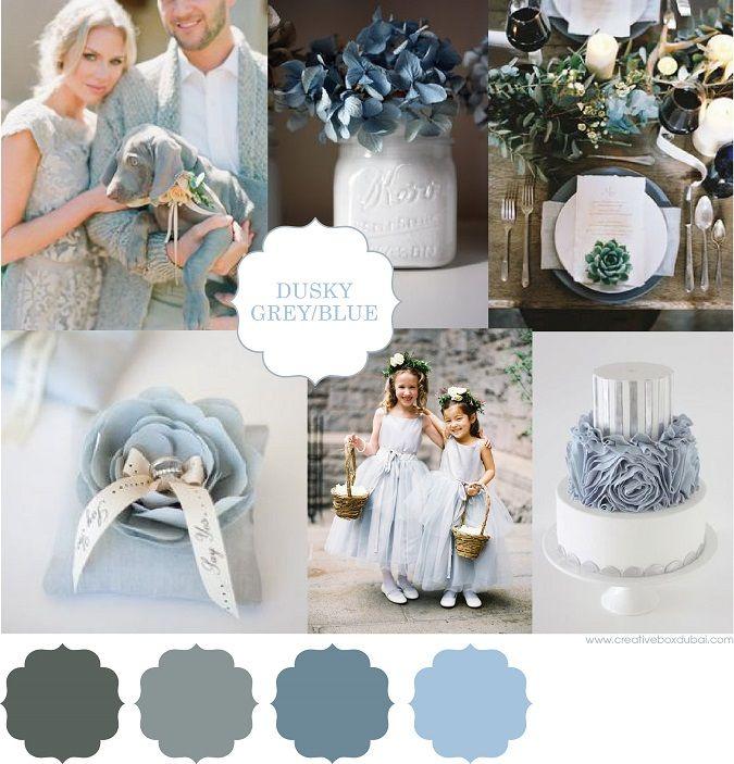 Wedding Colour Scheme {Dusky Blue and Grey}…