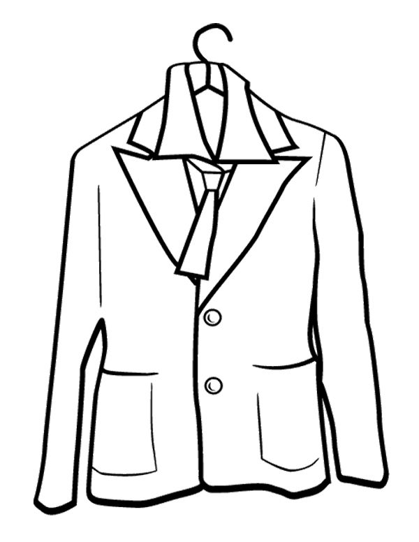 coloring pages of winter coat - photo#14