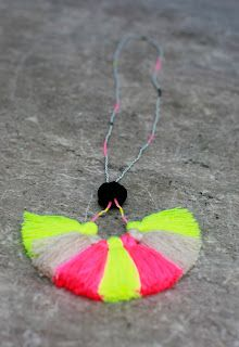 Neon Tassel necklace by studiodeseo