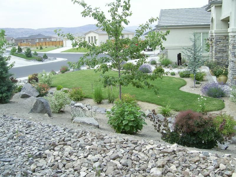 Simple Front Yard Rock Landscaping Rocky Yard Will Please Your Eye