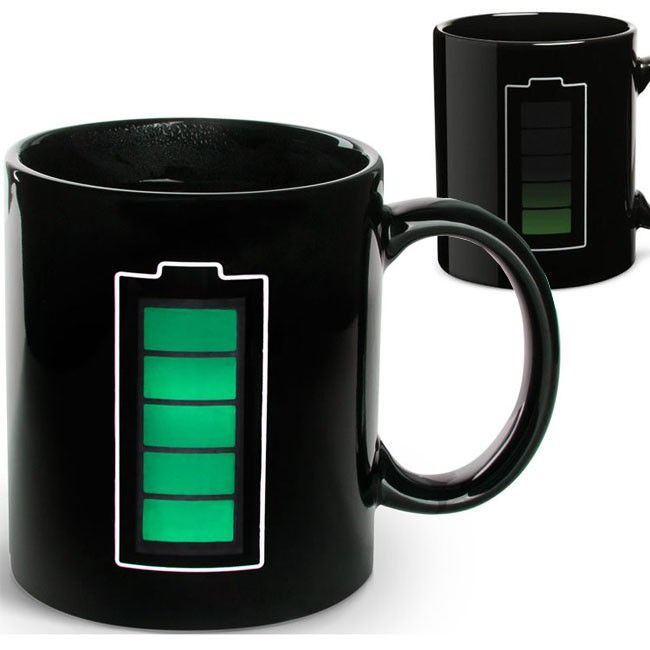 Cup with charge indicator sensitive to heat,Taza con indicador de carga sensible al calor,€14,50 http://www.youtube.com/watch?feature=player_embedded=XfN81jq6-yU