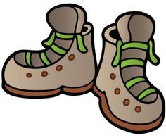 Camping hiking boots clip art Camping theme classroom