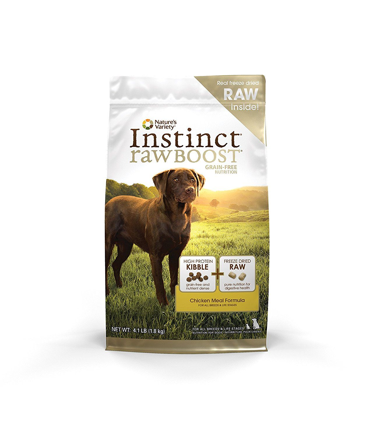 Nature S Variety Instinct Raw Boost Grain Free Chicken Meal Formula Dry Dog Food 4 1 Lb Bag See This Gre Raw Dog Food Recipes Dog Food Recipes Dry Dog Food
