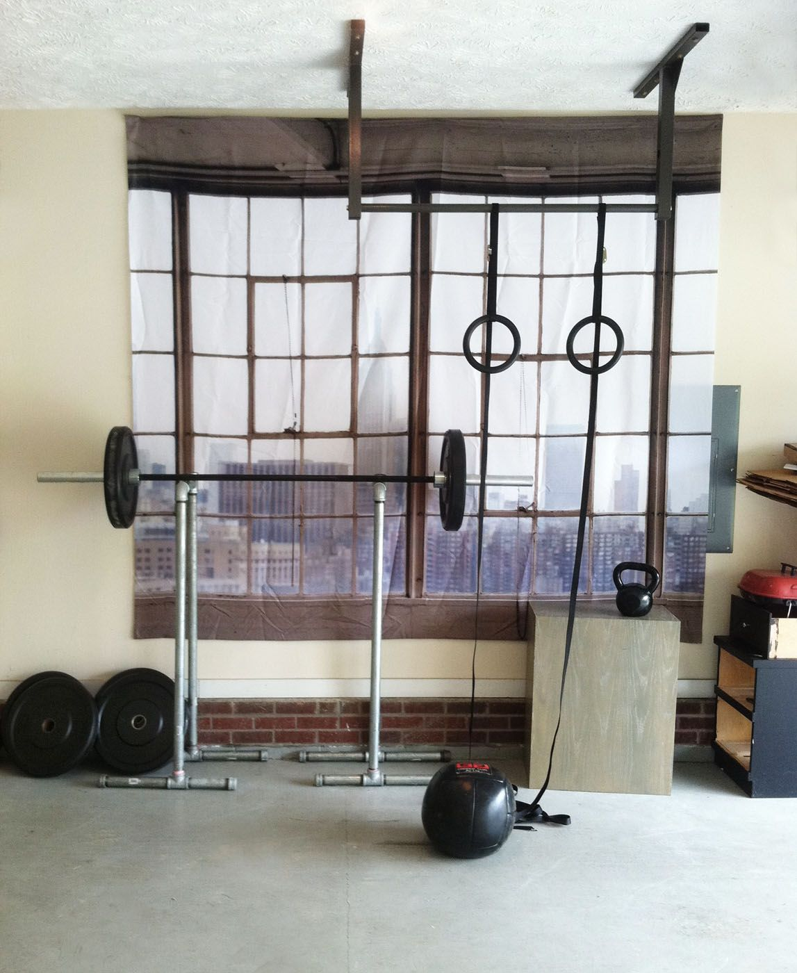Fake Window- For Dungeon (basement) Gyms :)