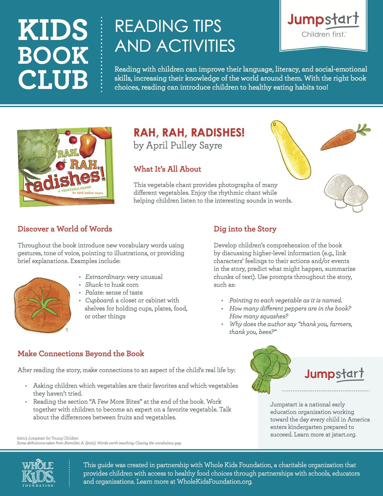 Rah Rah Radishes A Vegetable Chant Reading Tips