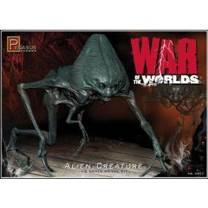 """1/8 War Of The Worlds """"Alien Creature"""" Kit by Pegasus Hobby. $20.94. Usually Ships in 2 to 3 days.. 1-8 Scale. Kit consists of one alien figure with alternate neck for posing options and detailed logo display base. 15 Pieces. Skill level 2.. Save 30% Off!"""