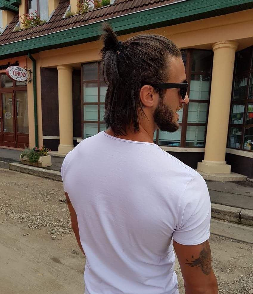 Men With Long Hair Bun Long Hair Styles Men Long Hair Styles Bun Hairstyles For Long Hair