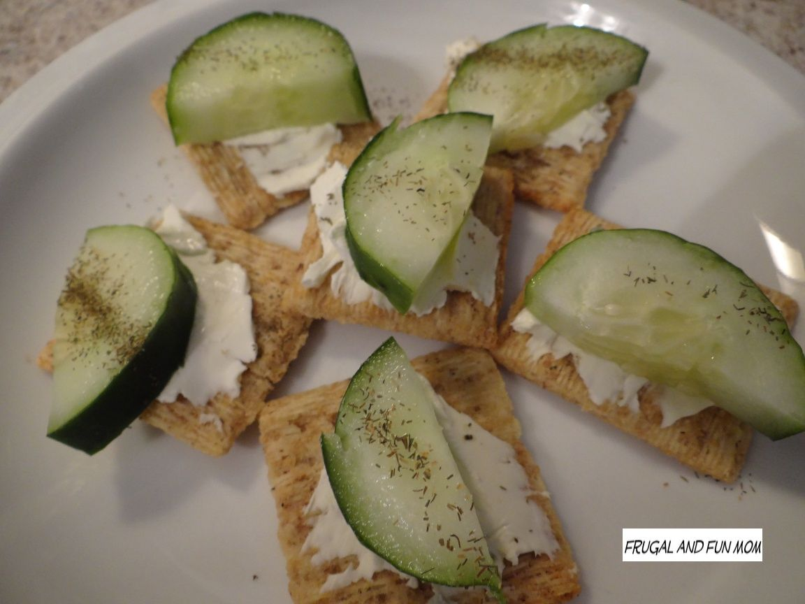 how to make cucumber dill cream cheese