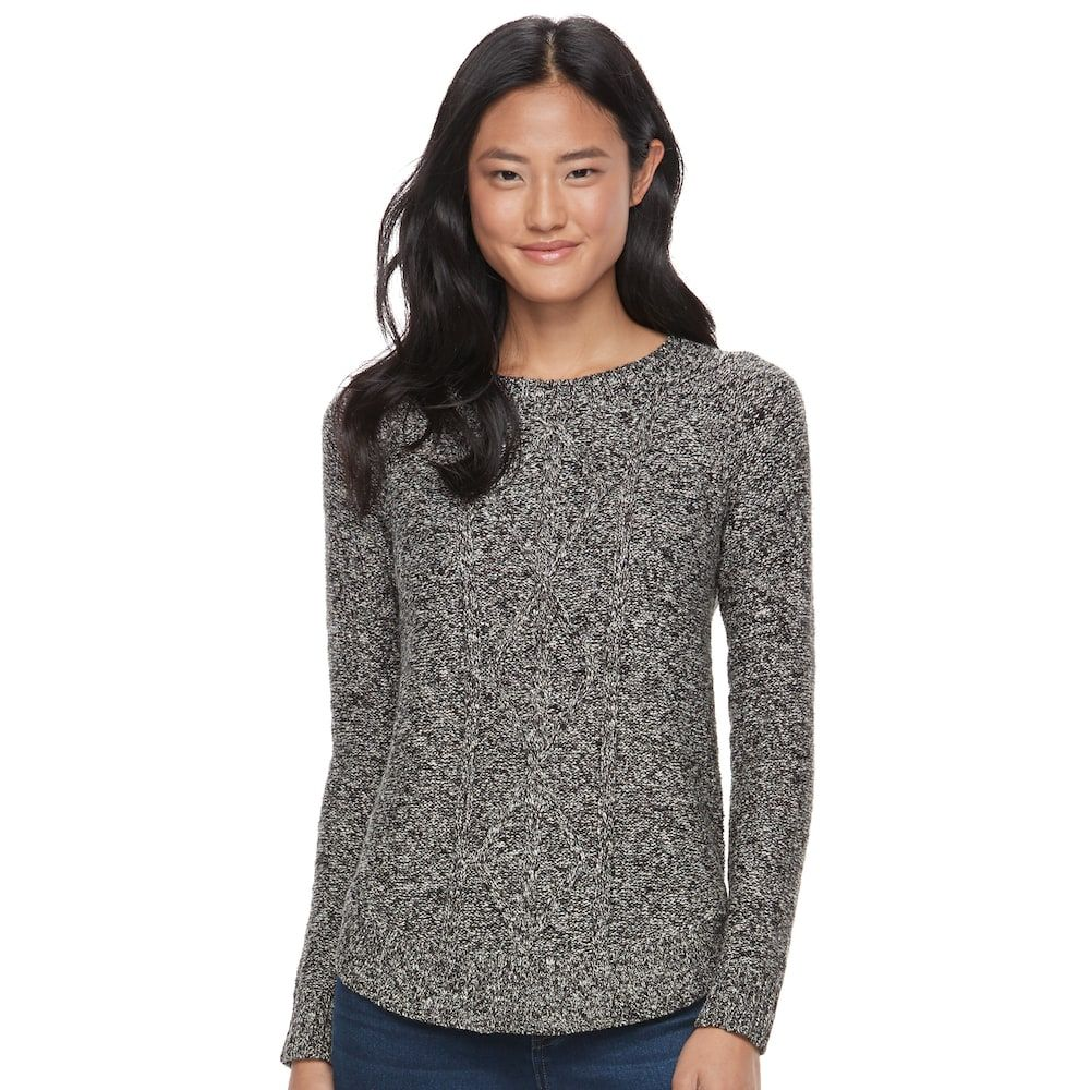 Juniors So Shirttail Cable Knit Sweater Fashion Pinterest