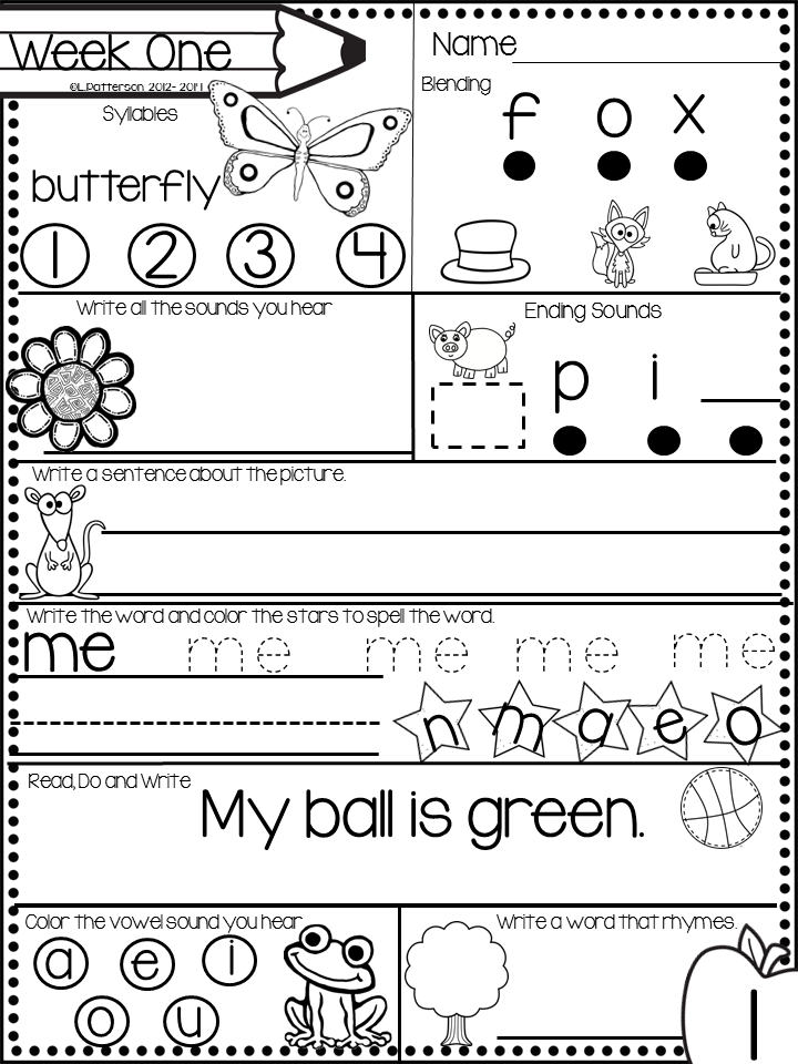 free kindergarten morning work for the month of december - Kindergarten Printables Free