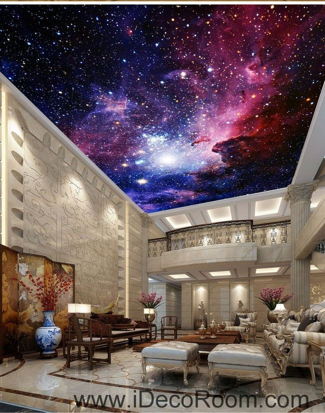 Galaxy nubela outerspace 00081 ceiling wall mural wall for Ceiling mural wallpaper