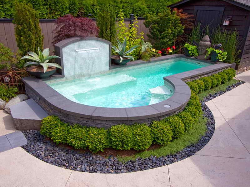 above ground pool small yard | 18 Photos of the Small in Ground Pools