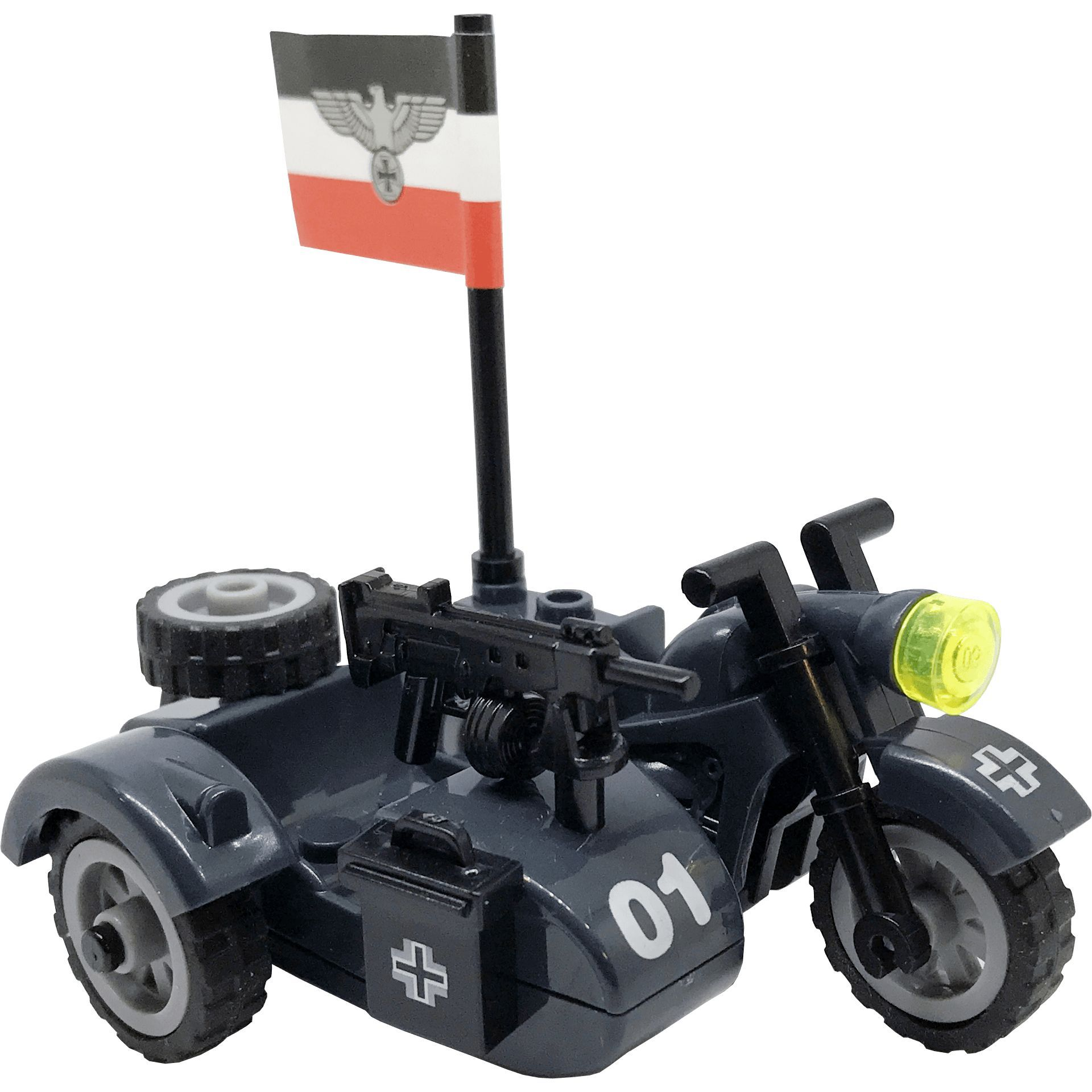 Brick Forces Minifigure WWII German Motorcycle with Sidecar ...