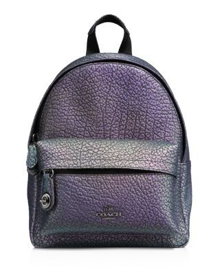 3ad4c273dc COACH Mini Campus Backpack in Hologram Leather