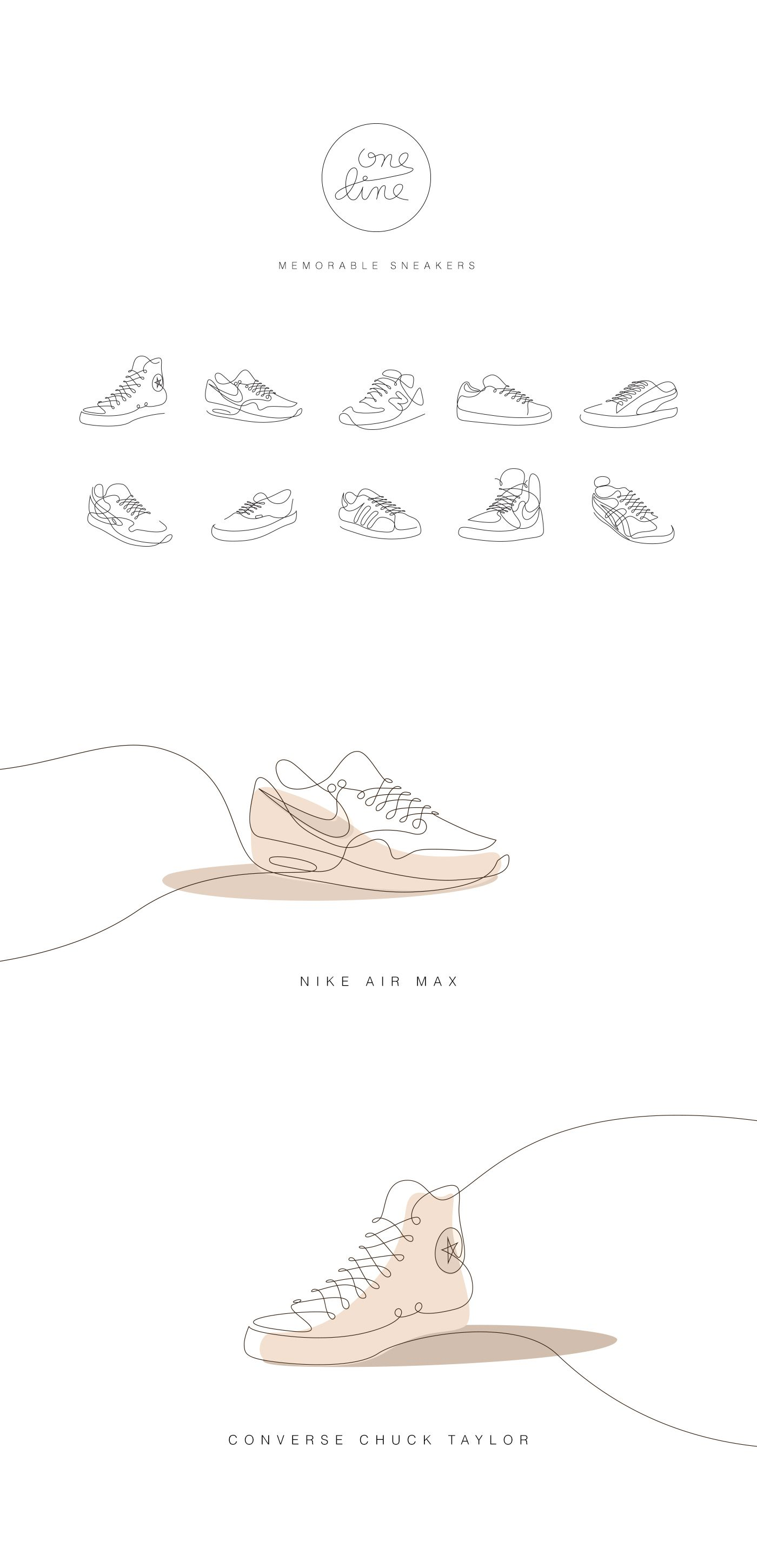One Line / Memorable sneakers / by Differantly Studio