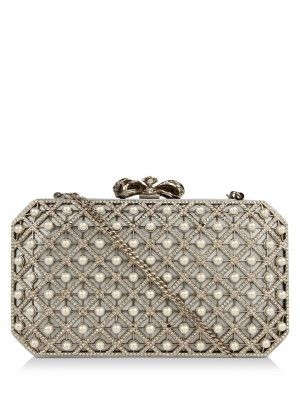 FOREVER NEW Pearl Studded Box Clutch | Pearls, Box and Bags online ...