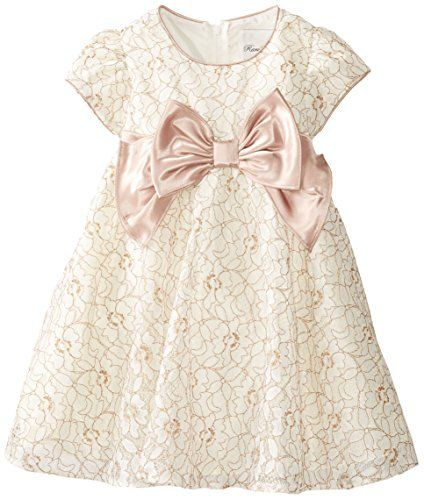 8cc86c0c0 Rare Editions Little Girls' Ivory Lace Dress, Taupe, 6x Rare Editions http: