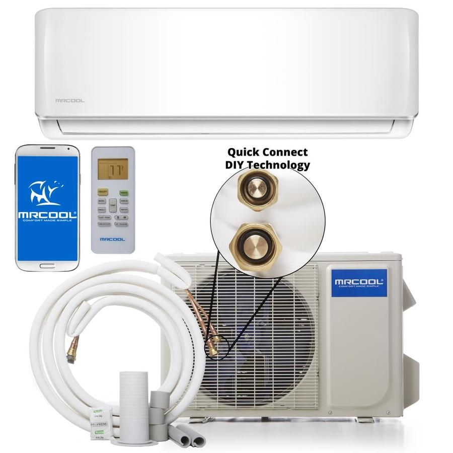 Mrcool Do It Yourself 24000 Btu 1000 Sq Ft Single Ductless Mini Split Air Conditioner With Heater Ductless Mini Split Ductless Split System