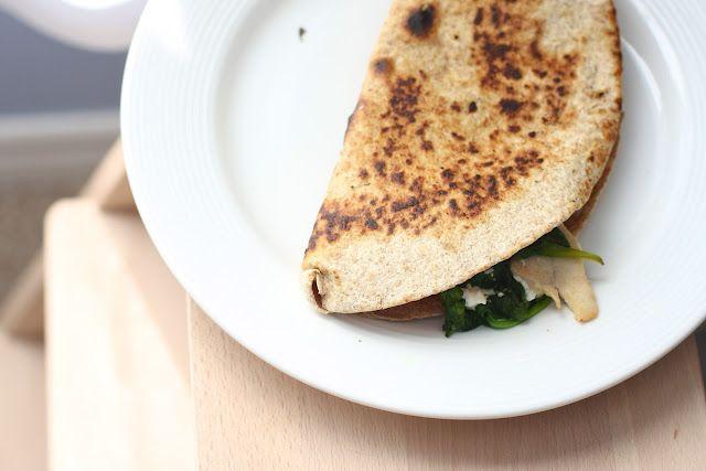 April 25th, Mexican: Chicken-Chevre Quesedillas.