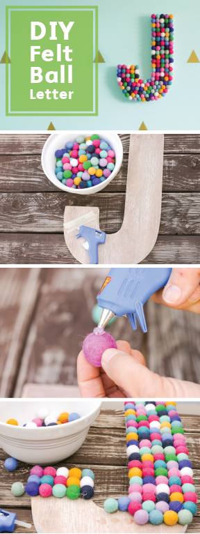 Bring the rainbow inside with this DIY Felt Ball Letter Craft! Get your glue gun on and create something that is fun, simple, and personalized. Protect your workspace from hot glue drips with Bounty Paper Towels, and craft away.