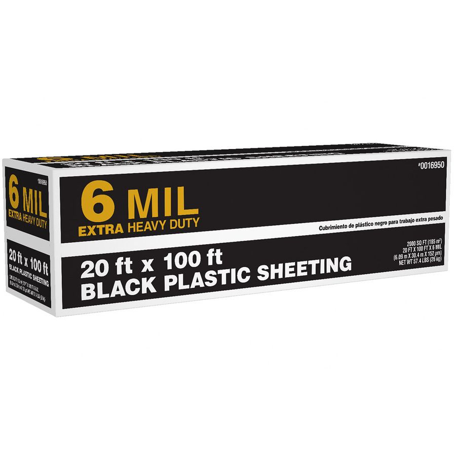 Shop 20 Ft X 100 Ft X 6 Mil Black Consumer Sheeting At Lowes Com With Images Black Plastic Sheeting Plastic Sheets Lowes Home Improvements