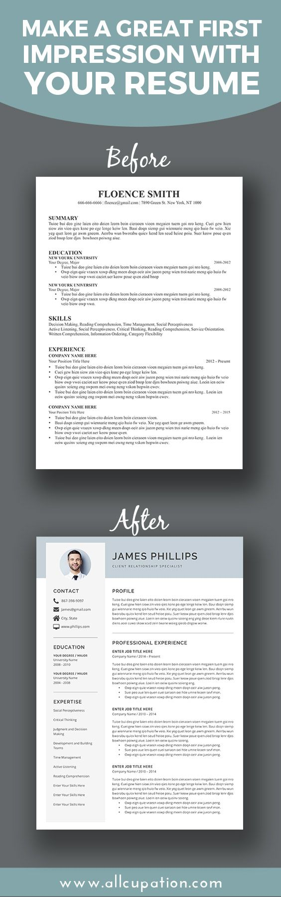 make a great first impression with your resume  visit