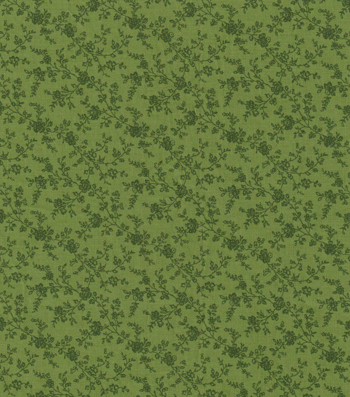 Keepsake Calico Cotton Fabric Green Vine Calico Fabric