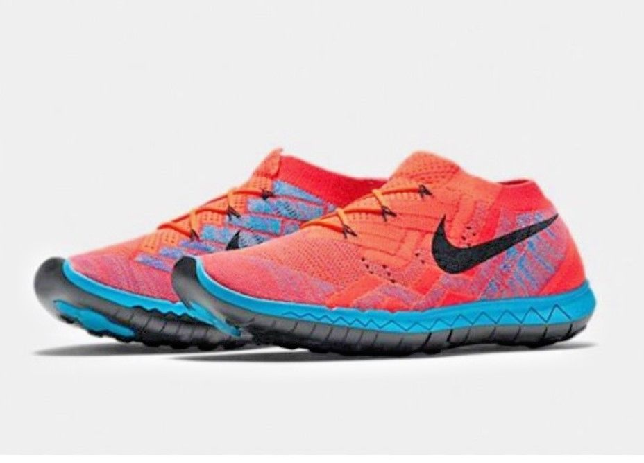 Nike Free 3.0 Flyknit Orange / Black / Blue Size Mens Size 14  718418 802 #Nike…