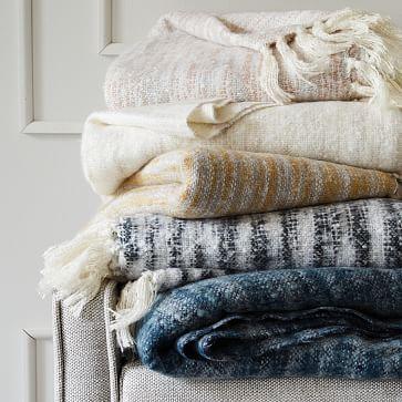 "West Elm Throw Blanket Coziest Space Dye Throw 44""x56"" Nightshade  Cozy Spaces And Bedrooms"