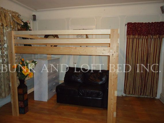 Supreme Queen Size Loft Bed With 1000lbs Weight Capacity