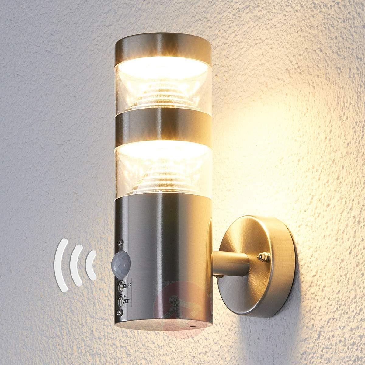 2c3fa4a8124 LED-Außenwandleuchte Lanea mit Bewegungsmelder-Wandleuchten  Außen-9988006-30 Outdoor Sconces
