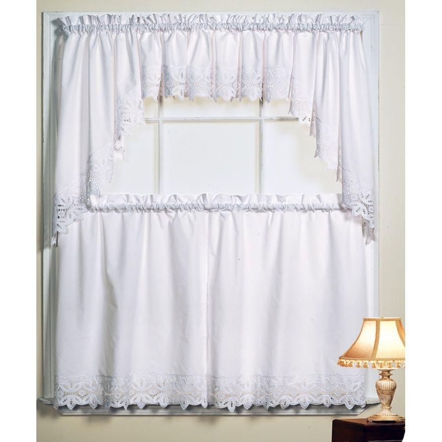 Etonnant Battenburg White Kitchen Curtains · White Kitchen CurtainsAnna LinensKitchen  ...