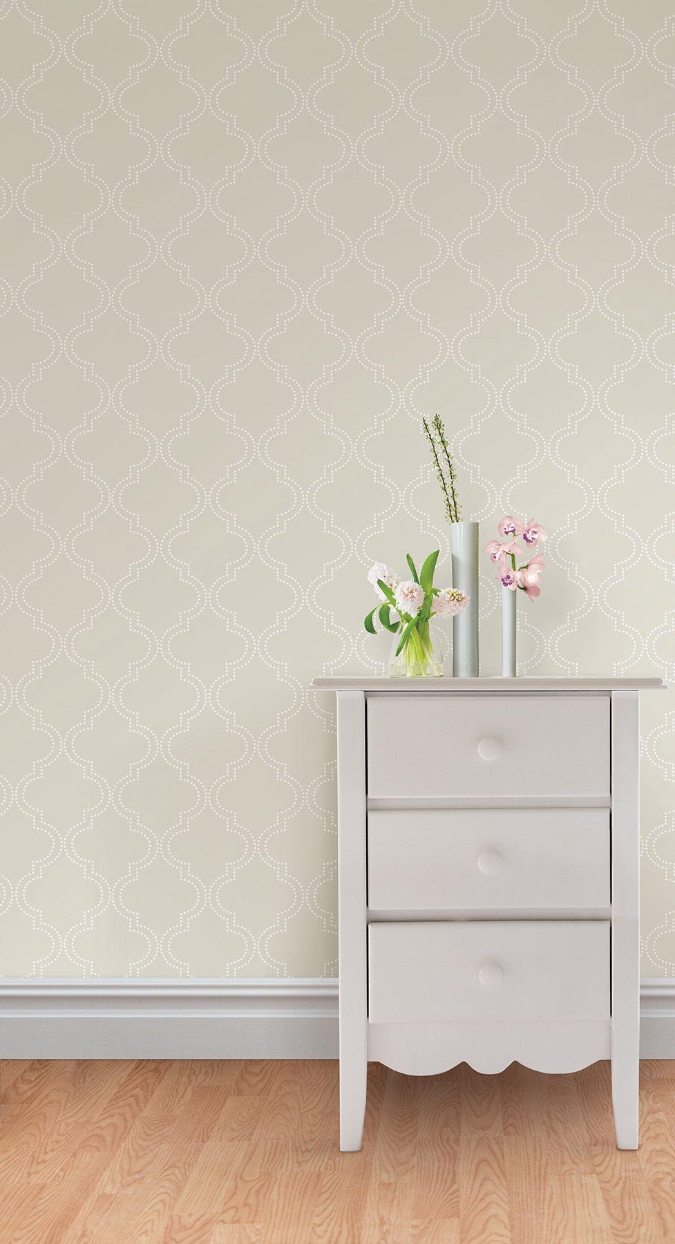 Taupe Quafoil Wallpaper By Nuwallpaper Wallpaper House Design Peel And Stick Wallpaper Trellis Wallpaper
