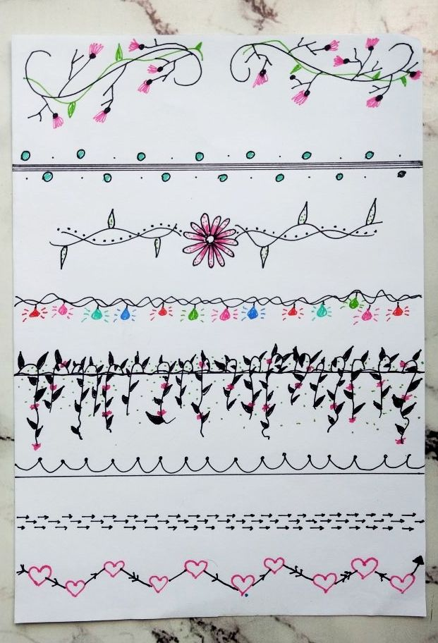 Divis rias e margens para decorar o caderno bullet journal agendas ou planners dicas para - Decorar album de fotos por dentro ...