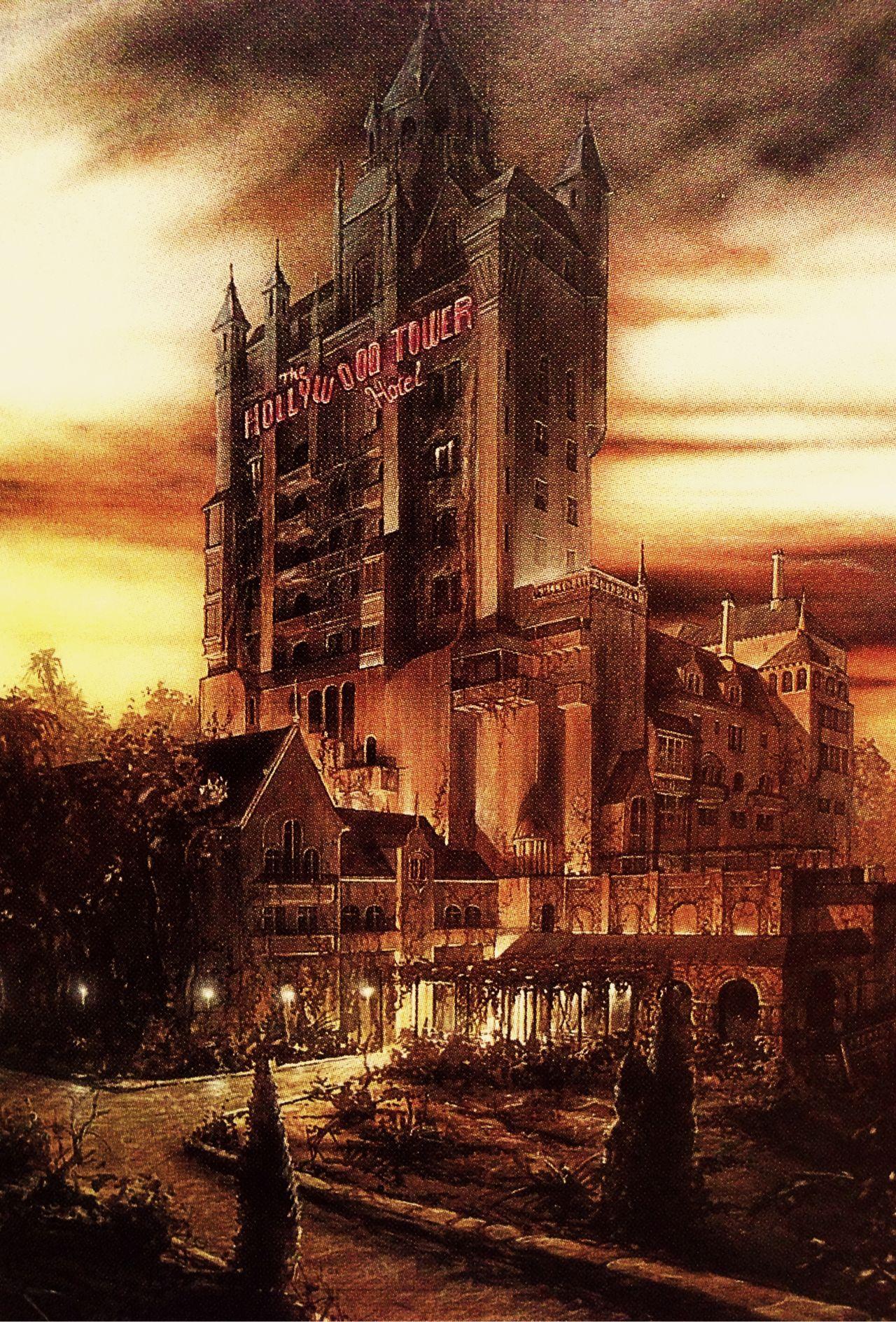 Concept Artwork For The Twilight Zone Tower Of Terror At Disney S Hollywood Studios Then Disney Disney Attractions Walt Disney Imagineering Disney Concept Art