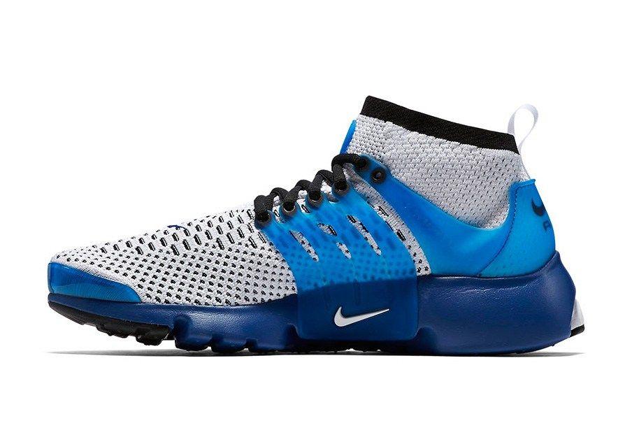 nike air presto ultra flyknit blue running shoes