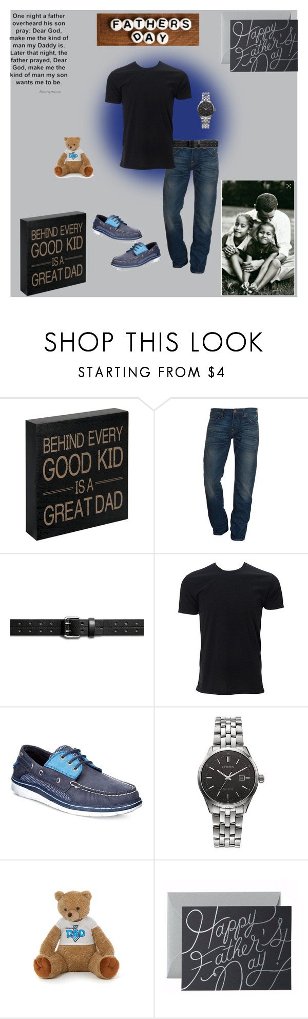 """""""👨👨👧👦 Happy Fathers Day 👨👩👧👦"""" by smith-1979 ❤ liked on Polyvore featuring True Religion, Shinola, Sperry, Citizen, Rifle Paper Co, men's fashion and menswear"""
